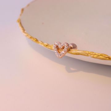 Picture of Bright heart piercing | rose gold