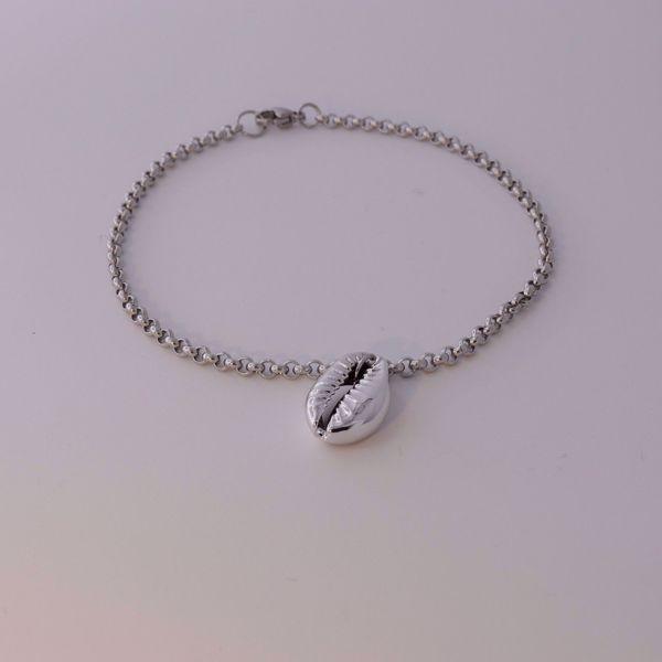 Imagem de Shell ankle bracelet | silver