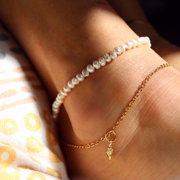 Picture of Pearls ankle bracelet