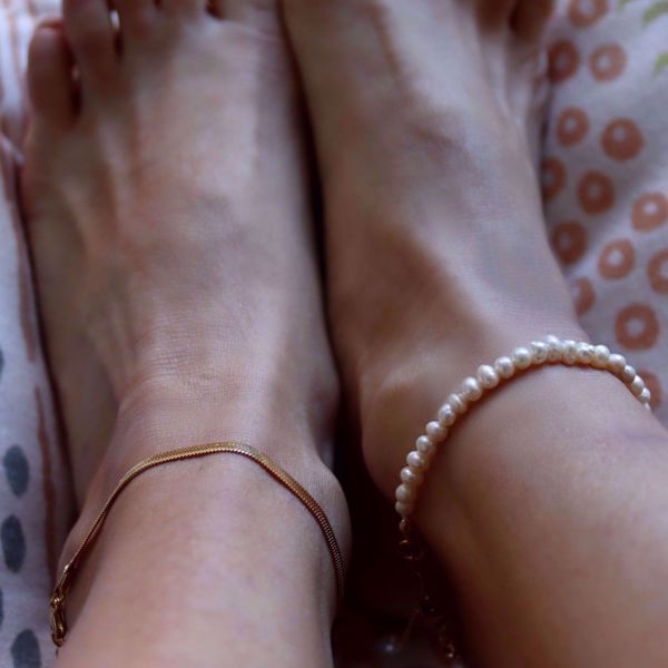 Imagem de Snake ankle bracelet | golden