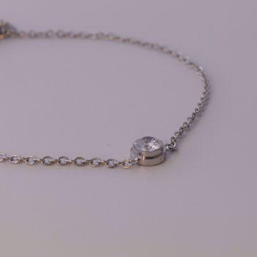 Picture of Spot light ankle bracelet | silver