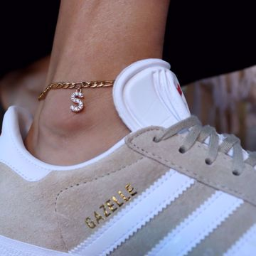 Picture of Letter ankle bracelet | golden
