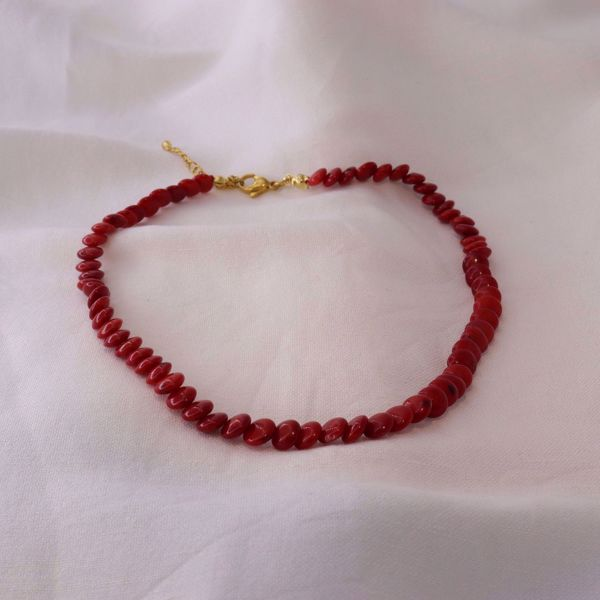 Picture of Red coral choker