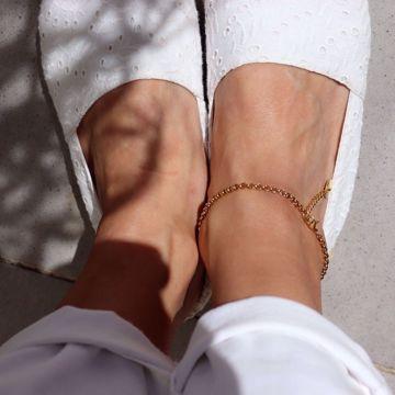 Imagem de Coin ankle bracelet | golden