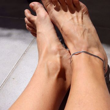 Imagem de Snake ankle bracelet | silver