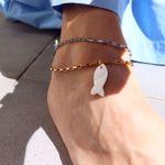 Imagem de Fish ankle bracelet | golden