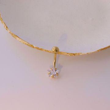 Imagem de Star belly button piercing | golden