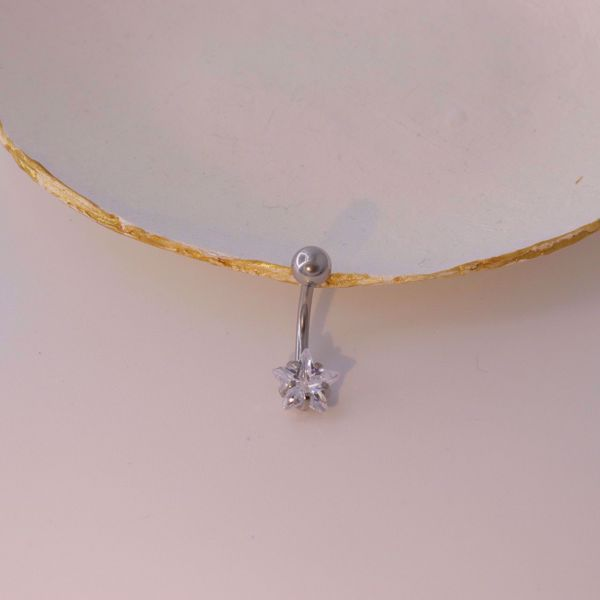 Picture of Star belly button piercing   silver