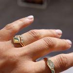 Imagem de Semi-circle golden ring