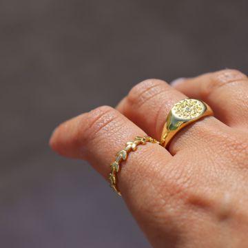 Imagem de Star signet ring