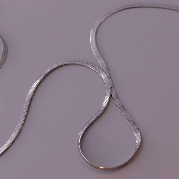 Imagem de Snake thin necklace | Silver