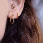 Picture of Beatriz huggie earrings M | golden