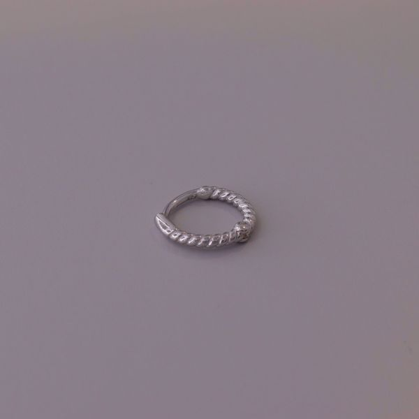 Picture of Mini twisted huggie earring | silver