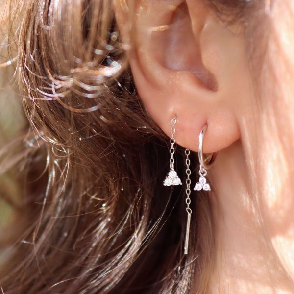 Picture of Sayuri chain earring   silver