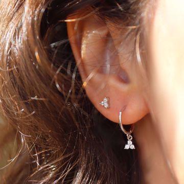 Picture of Sayuri huggie earring |  silver