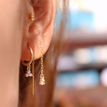 Picture of Sayuri chain earring | golden